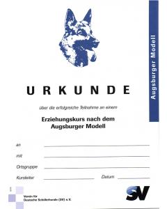 "Urkunde ""Erziehungskurs"""