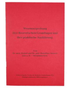 """Broschüre """"Wesenserprobung"""""""