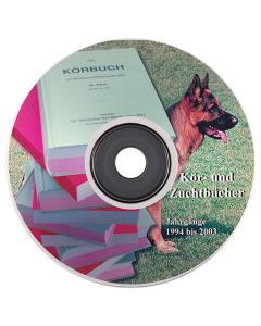 """CD """"Zucht-/Körbuch"""" 1994 - 2003"""