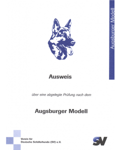 """Ausweis """"Erziehungskurs """"Augsburger Modell"""""""