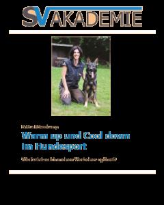 """""""Warm up und Cool down im Hundesport"""""""