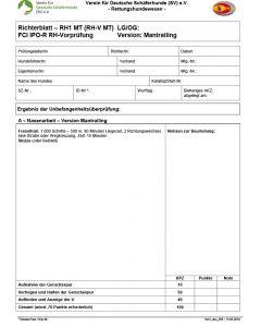 Richterblatt - RH1 MT FCI IPO-R RH-Vorprüfung
