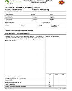 Richterblatt - RH2 MT A FCI IPO-R RH-Stufe A