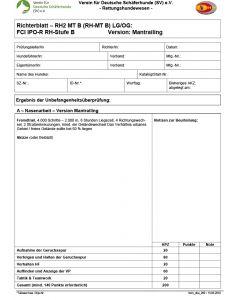 Richterblatt - RH2 MT B FCI IPO-R RH-Stufe B