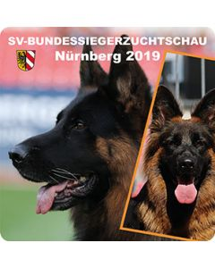 """Aufkleber """"SV-Bundessiegerzuchtschau 2019"""""""
